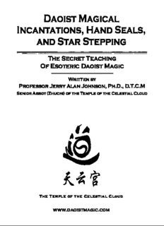 Daoist Magical Incantations, Hand Seals, and Star Stepping