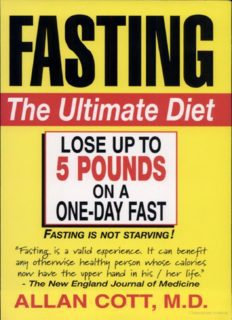 Fasting - The Ultimate Diet & Bonus Book Fasting As a Way of Life